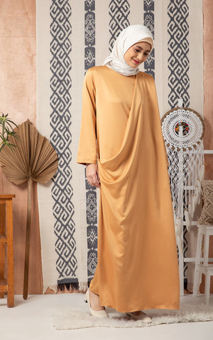 Saqyna Sari Dress Yellow