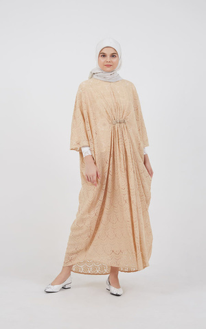 Garsisti Long Kaftan Cream