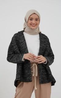 Coat Revitha V-Neck Coat Black