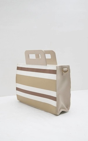 Sophie Paulina Stripes Handbag Multi Brown