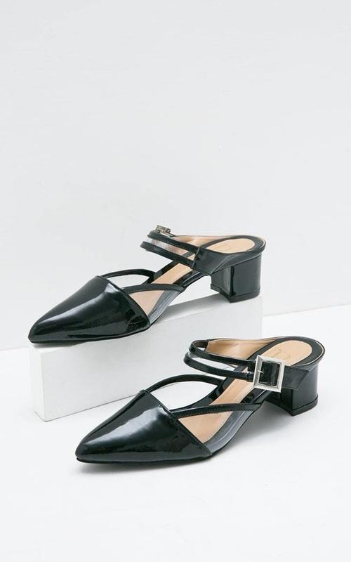 Sepatu - Sophie Andrea Ankle Strap Febria Heels Black - Black