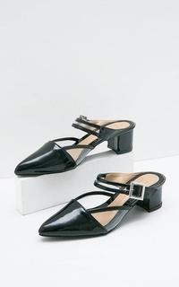 Sophie Andrea Ankle Strap Febria Heels Black