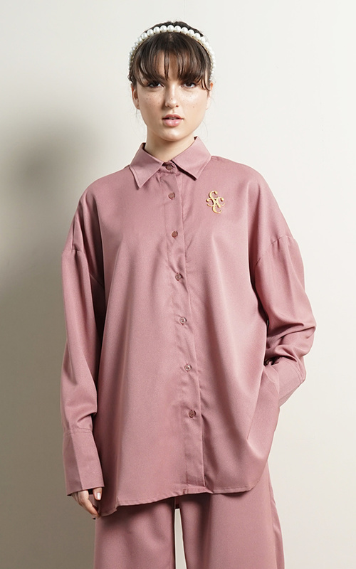 Kemeja - Jeany Oversized Shirt - Rose