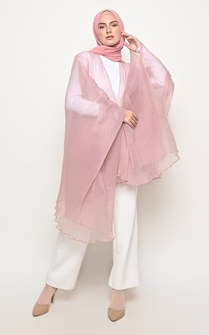 LILY PLEATS OUTERWEAR DUSTY PINK