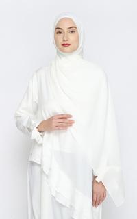 Pashmina Safaa Crinkle Pashmina - White