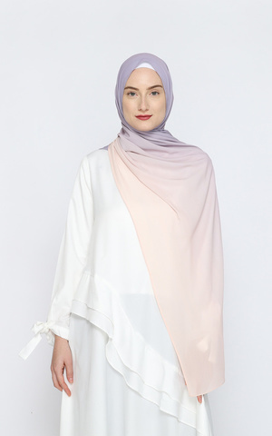 Safaa Crinkle Ombre Pashmina - Orchid