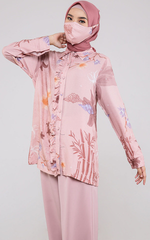Madelyn Blouse in Dusty Pink