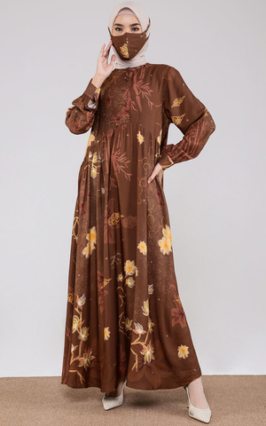 Huana Dress in Dark Brown