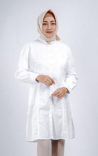 Sekido Tunik Alya Putih (Free Masker) Baju Kerja Muslim