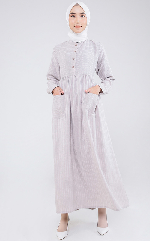 Long Dress - Septri Dress - Khaki