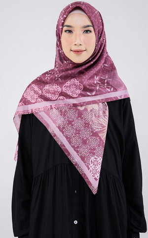 Pansy Voal Scarf Plum
