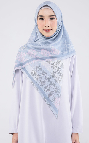 Pansy Voal Scarf Light Grey