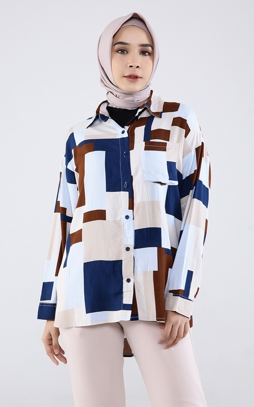 Blouse - Witama Top - Blue