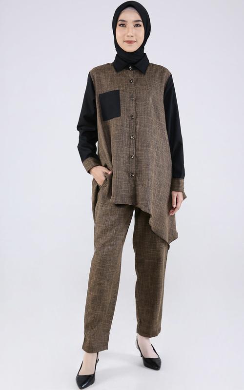 Matching Sets - Isna Set - Black-Brown