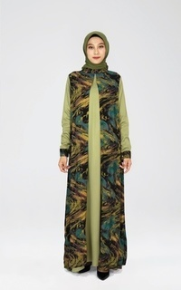 Dress Olive Abstract