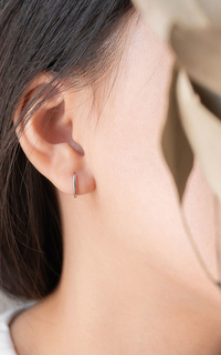 Aeroculata Orion Hoop Earrings - Silver
