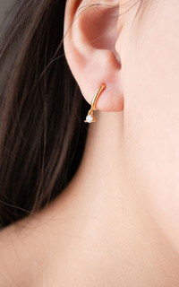Aeroculata Reva Hoop Earrings - Gold