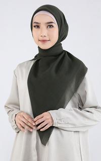 Plain Hijab Lasercut Moss Green