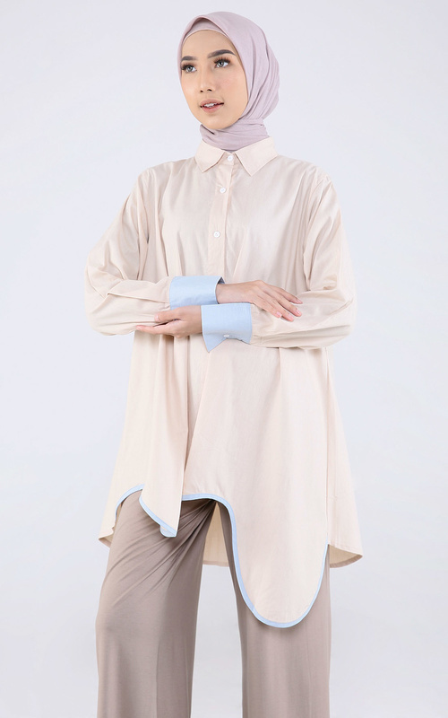 Blouse - Hansen Twotone - Cream