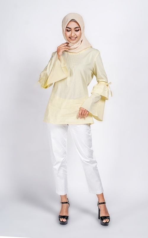 Blus - Tunique wear | Zia Blouse | Orchid Collection - Kuning
