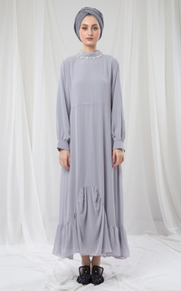 GREY SADIQQAH DRESS