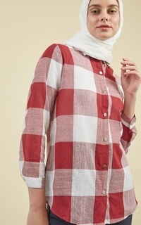 Mayme Jules Tunic Red