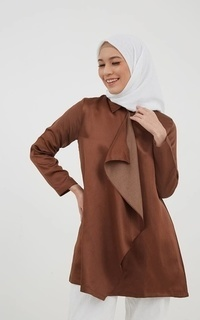 Blouse Posy Irregular Outer Brown
