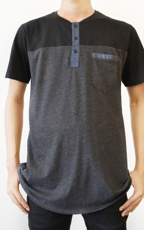 Pakaian Pria - Kurta Hasyid - Black - Grey