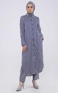 Stripe Long Shirt Dress