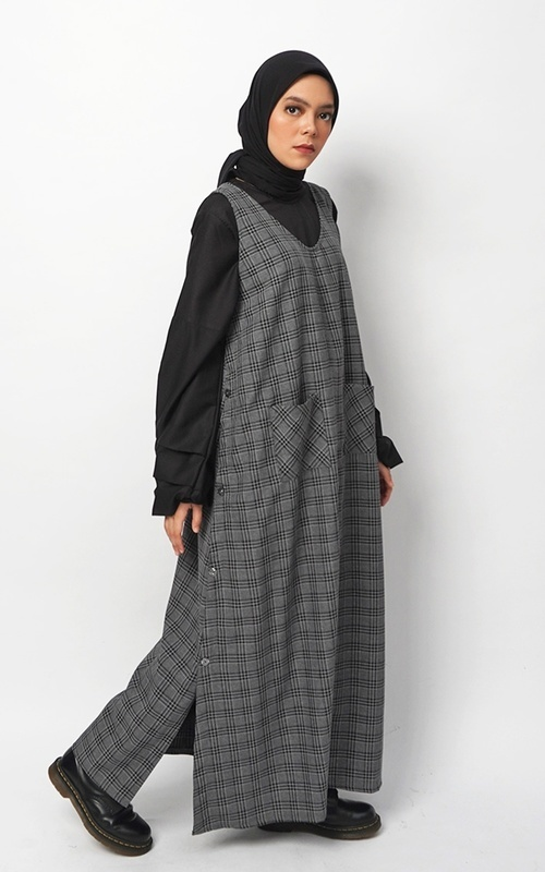 Overall - Camel Overall Dress Grey - Grey