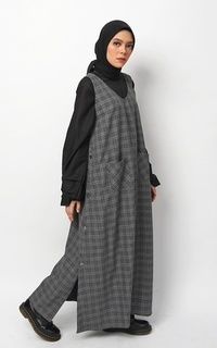 Camel Overall Dress Grey