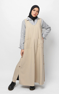 Overall Beela Overall Dress Cream