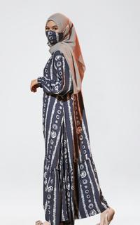 Long Dress Home Dress Aiyra - Blue (FREE Masker Semotif)