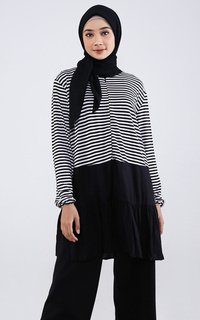 Misqa Top Stripe Black