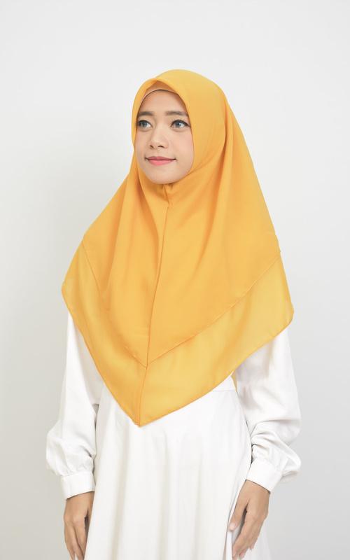 Instant Hijab - Khimar Layer Instan Hijab Syari Mustard - Mustard