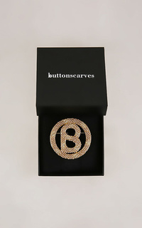 Bros Luxe Big Round Pearl Brooch - Bronze