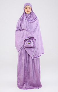 Praying Set Mukena Travelling Plain Purple