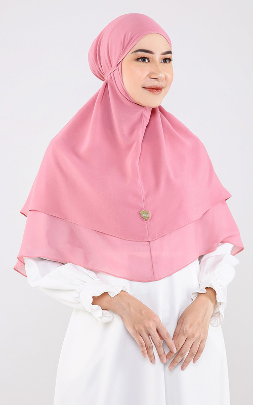 Hijab Instan - Twina Bergo - Pink