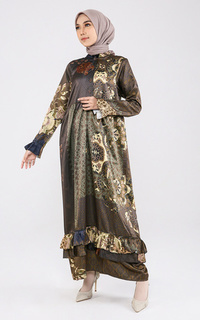 Long Dress Maroco in Raya Collection Lime