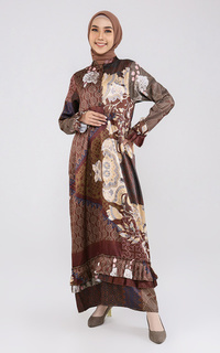 Long Dress Maroco in Raya Collection Chocolate