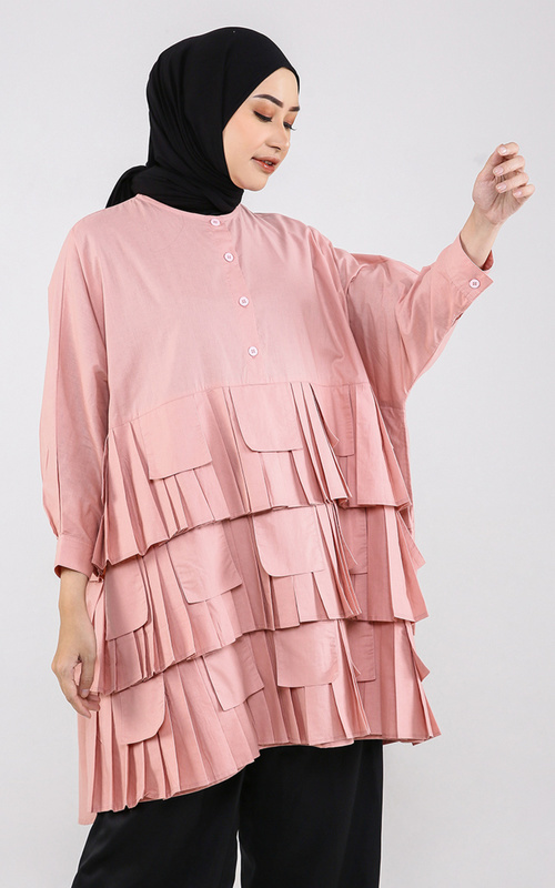 Blouse - Minjee Top - Dusty Pink