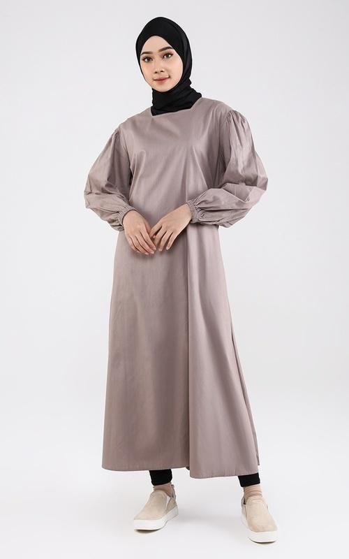Long Dress - Violet Midi Dress Warm Stone - Warm Stone