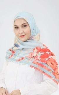 Printed Scarf Wild Poppies