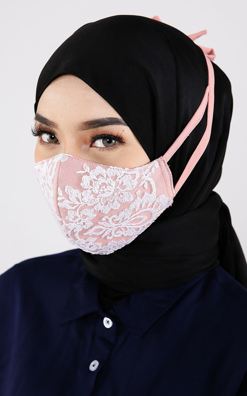Mask - Kuna Brocade Mask - Dusty Pink