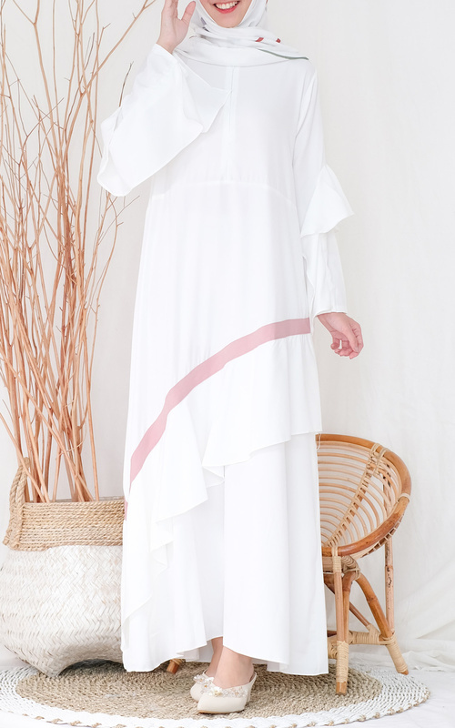 Long Dress - Amelia Gamis - Putih