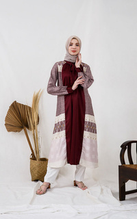 Gamis Obediah Flare Dress Red