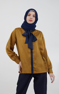 Blus Omiara Flare Top Gold