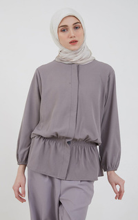 Blouse Sephia Ife Peplum Blouse Dark Grey