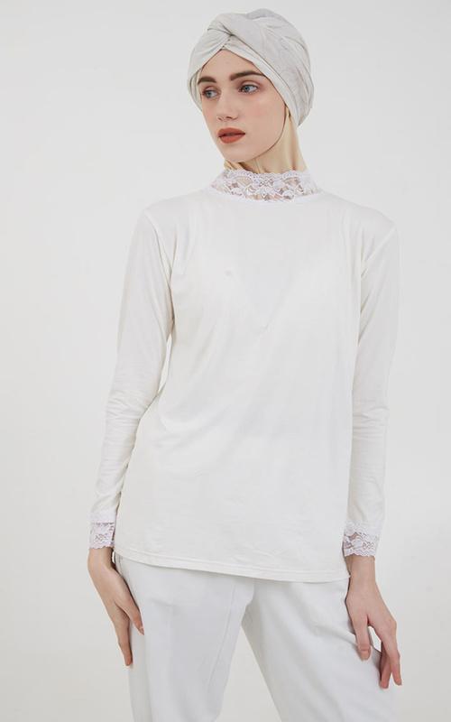 Inner Shirt - Surinala Manset Broken White 2 - White