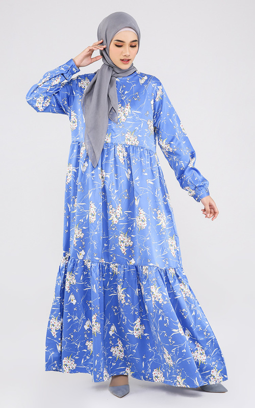 Long Dress - Lubna Gamis - Blue Flower